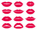 Woman Lips Expression Vector Icons Set Stock Images - 85811794