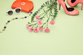 Spring Design Fashion Girl Clothes Set.Pastel Royalty Free Stock Photography - 85820077