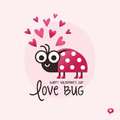Cute Valentines Day Card Love Bug Ladybird Royalty Free Stock Image - 85839576