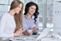 Two Young Girls Working Stock Photos - 85844053