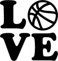 Basketball Love With Ball Stock Images - 85845594