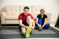 Couple Getting Ready To Workout At Home Stock Image - 85862211
