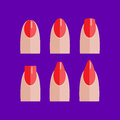 Set Of Manicured Red Nails Royalty Free Stock Image - 85862296