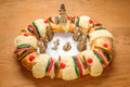 Epiphany Cake, Kings Cake, Or Rosca De Reyes Royalty Free Stock Photography - 85862947