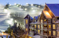 Blue Mountain Village In Winter Stock Photography - 85869132