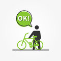 Man With Bicycle Vector Illustration Royalty Free Stock Photography - 85874157