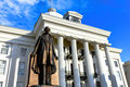 Jefferson Davis Statue In Front Of Alabama Capitol Stock Photo - 85875370