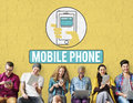 Mobile Phone Cellphone Cellular Communicate Concept Stock Photography - 85879942