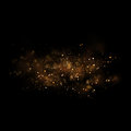 Gold Glittering Star Light And Bokeh.Magic Dust Abstract Backgro Stock Photography - 85881822