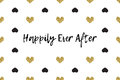 Valentine Greeting Card With Text, Black And Gold Hearts Stock Images - 85896084
