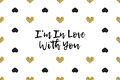 Valentine Greeting Card With Text, Black And Gold Hearts Stock Image - 85897421