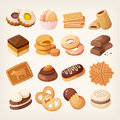Cookies And Biscuits Icons Set Royalty Free Stock Photo - 85920895