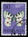 Stamp Printed In Yugoslavia Shows Butterfly Royalty Free Stock Images - 85960629