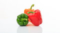Colorful Bell Peppers On White Background Stock Image - 85962801