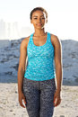 African American Fitness Woman Standing Outside Royalty Free Stock Photography - 85966197