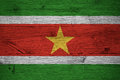 Suriname National Flag Painted Old Oak Wood Stock Photos - 85996083