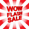 Red Sale Poster With WOW FLASH SALE Text. Advertising Banner Royalty Free Stock Image - 85999536