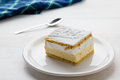 Cream Pie With Layers Of Puff Pastry Royalty Free Stock Image - 86015346