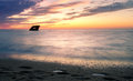 Romantic Sunset With A Shipwreck In Cape May Stock Photos - 86016713