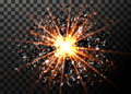 Vector Abstract Explosion Background. Bright Blast In Dark. Glowing Bright Light. Digital Graphic For Brochure, Website Stock Photography - 86021122