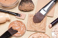 Foundation Makeup Products On Crumpled Paper Royalty Free Stock Photography - 86026077