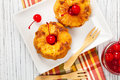 Pineapple Upside Down Muffins Stock Image - 86030161