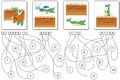 Educational Puzzle Game With Dragon. Find The Hidden Words Stock Photography - 86034482