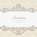 Ornamental Paper Frame With Lace Border Stock Photo - 86039030