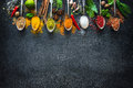 Various Herbs And Spices Royalty Free Stock Image - 86039176