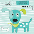 Cute Woof Dog Vector Illustration Royalty Free Stock Photography - 86047957