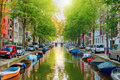 Canal In Amsterdam Royalty Free Stock Images - 86056599