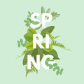 Spring Letter With Leaves Royalty Free Stock Photos - 86061228