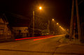 Light Trail On A Lonely Street Stock Photos - 86082413