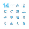 School And Education - Line Icons Set Stock Photography - 86082722