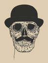 Dandy Skull Royalty Free Stock Image - 86085426