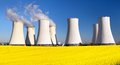 Nuclear Power Plant, Cooling Tower, Field Of Rapeseed Stock Images - 86093144
