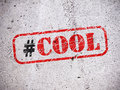Cool Hashtag On The Wall Royalty Free Stock Photography - 86094727