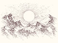 Sun Rise Sketch Royalty Free Stock Photos - 86097938