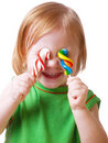 Little Girl With Candy Stock Photo - 8611750