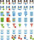 Database Details Icon Set Of 42 Icon`s Royalty Free Stock Photography - 8615267