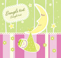 Baby Arrival Announcement Card Stock Photography - 8618492