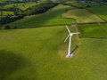 Aerial View Of A Electricity Generating Wind Turbine Royalty Free Stock Images - 86102759