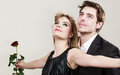 Enamoured Couple In Titanic Gesture. Royalty Free Stock Photography - 86125577