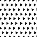 Vector Abstract Hand Drawn Black And White Ink Geometric Arrows Triangles Pattern With Fun Circles. Great For Vintage Royalty Free Stock Images - 86131369