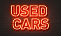 Used Cars Neon Sign Stock Photos - 86132073