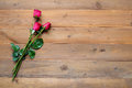 Red Roses On Vintage Wood Background Royalty Free Stock Images - 86132109