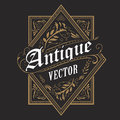 Antique Border Western Frame Vintage Label Hand Drawn Typography Stock Photo - 86139120