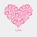 Vector Illustration Of Diamond Hearts With Text Royalty Free Stock Photography - 86148127
