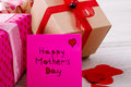Gifts Near Mother`s Day Card. Royalty Free Stock Image - 86152856