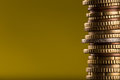 Euro Coins Stacked On Each Other. Stock Photo - 86161000